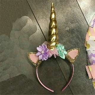 Girls Decorative Headband Unicorn Horn