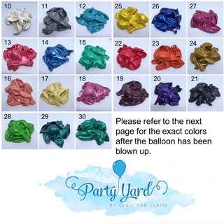 10 pcs Latex Balloons (Non-helium)