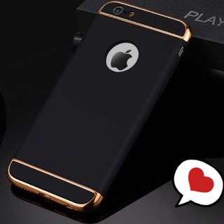 IPhone 6/6s 三段式全包硬殼 黑 手機殼