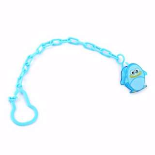 Baby Pacifier Clip with Chain (Penguin)