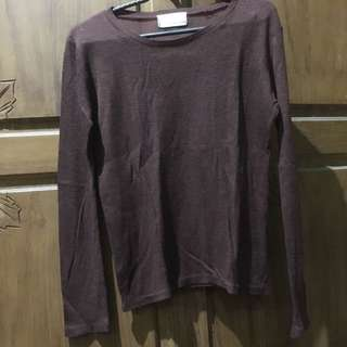 Long sleeve maroon