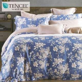 【樂】100%天絲TENCEL 雙人/雙人加大/特大 40支天絲 四件式鋪棉兩用被套床包組&鋪棉兩用被套床罩組(蘭之夢)