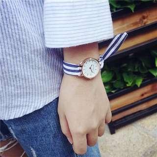 布帶緞帶綁帶條紋手錶