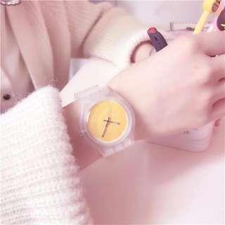 果凍柳丁水果透明手錶