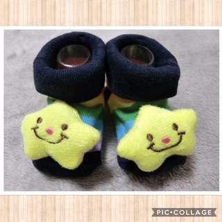✨全新1雙✨條紋 立體星星 寶寶 襪