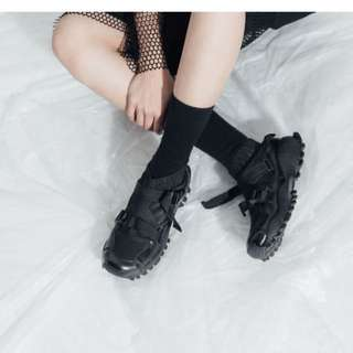X.O.X.O 韓國官網日系潮流彈力連襪織帶運動鞋球鞋 繃帶鞋 忍者鞋 xoxo