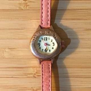 日本 貓咪 粉色 手錶