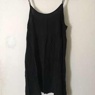 American Apparel babydoll dress black size M
