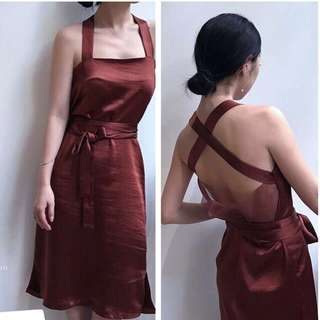 ⏳ (More cols) Lux glam satin feel dress