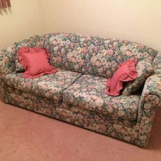 Floral Sofa Bed (Double)