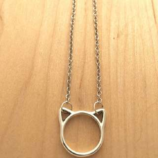 cat necklace, silver minimalist necklace for cat lovers!