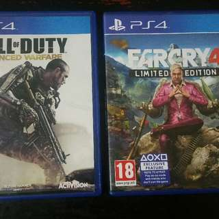 Nba 2k15 700 Farcry4 limited edittion 900 Minecraft bnew 1300 Cod advance warfare 1400  Las pinas Pasay meetup