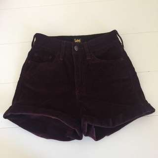 Lee corduroy high waisted shorts