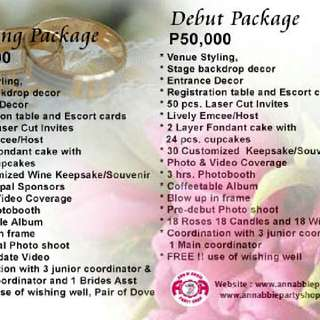 Affordable Wedding And Debut Package