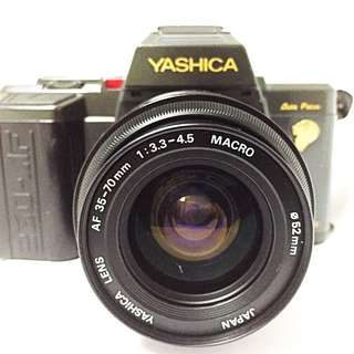 VINTAGE YASHICA AUTO FOCUS ANALOG CAMERA AND LENS