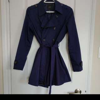 Fit & Flare Navy Coat