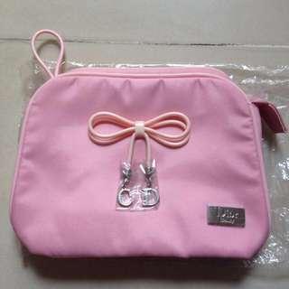 Dior粉色化妝包