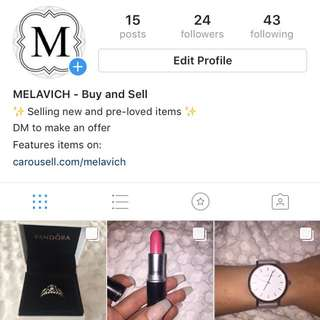 Follow @MELAVICH_STORE on Instagram