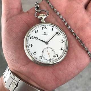 Vintage Omega Open Face Pocket Watch