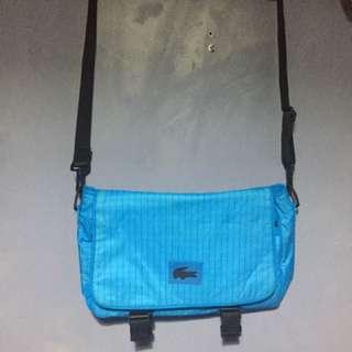 Authentic Men's/women's LACOSTE Blue Messenger Bag