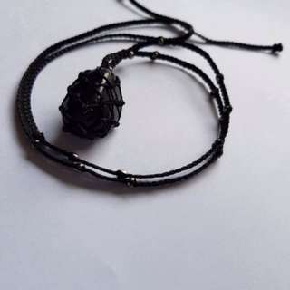 Nuumite stone necklace