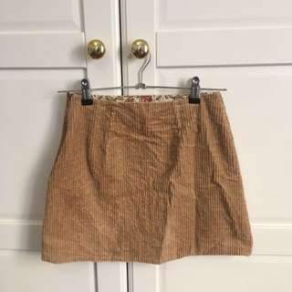 Brown Corduroy Skirt - Size 6