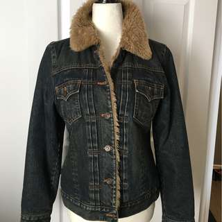 VINTAGE GAP WINTER JEAN JACKET - S