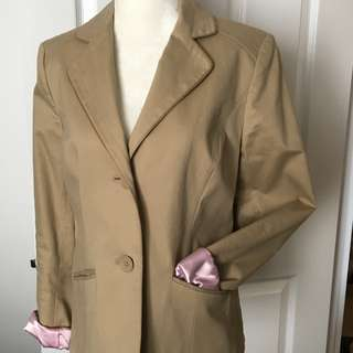 CAMEL FULLY LINED BLAZER - 8