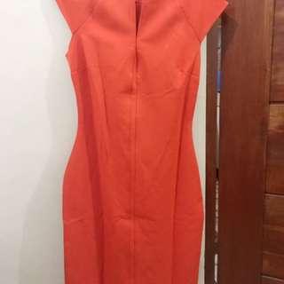 Zara Tangerine Dress