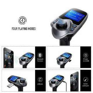 Bluetooth Car Kit MP3 Player FM Transmitter Wireless Radio Adapter USB Charger Blue Backlight is a well-designed portable multi-media car FM transmitter