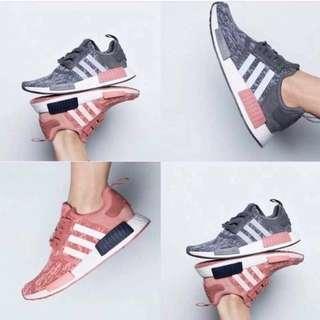 BN authentic adidas NMD R1 primeknit glitch raw pink grey