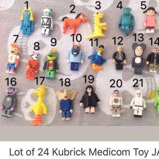 Kubrick 迪士尼 庫伯力克 怪獸大學 怪獸電力公司 毛怪 阿布 黑白米奇 芝麻街 黏土人