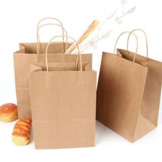 (Instock) Kraft Paper Carry Bag