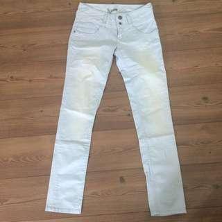 全新 Roxy 淺藍色洗水 長斜褲