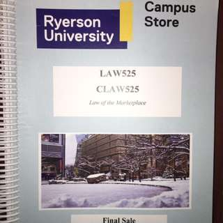 Law 525 Textbook Ryerson