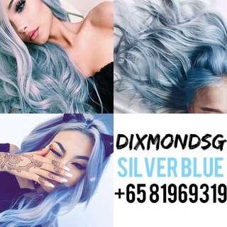 DIXMONDSG SILVER BLUE HAIR DYE