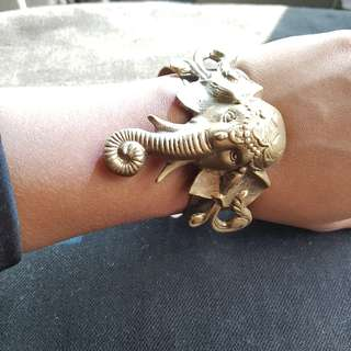 Vintage Bohemian Elephant Brass Bracelet