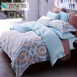 【樂】100%天絲TENCEL 雙人/雙人加大/特大 40支天絲 四件式鋪棉兩用被套床包組&鋪棉兩用被套床罩組(光影)