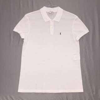 Men's M White YSL Polo