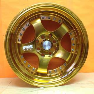 NEW SPORT RIM WORK MEISTER GOLD DESIGN 15inch