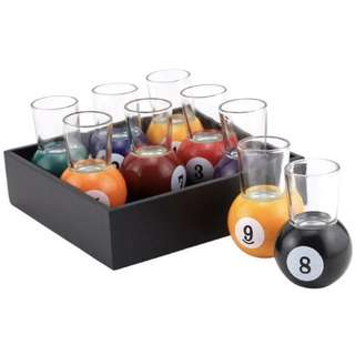 Pool Shots Glass Set
