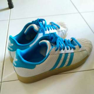 Adidas Blue Dots Shoe Size UK 9 1/2