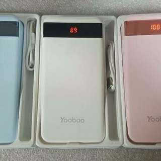 Authentic Yoobao 20,000mAh Power Bank with LED Display Dual Output.