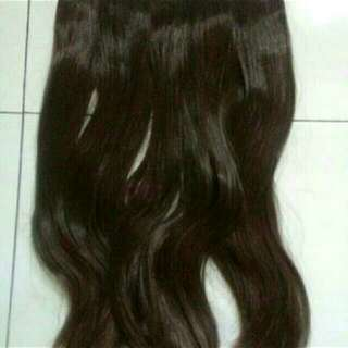 Hairclip Hair Flip Coklat Brown