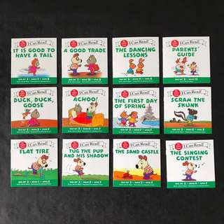 💥{NEW} Set of 12 - I can read my very first - Book Set 3 Level E F G Story Books