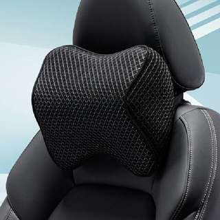 Car Seat Headrest Pad Ergonomic Memory Foam Pillow (Black)