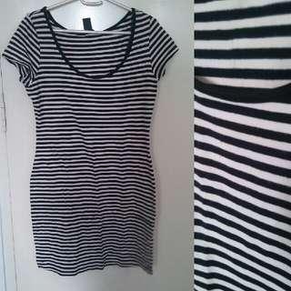 H&M Long Striped Blouse