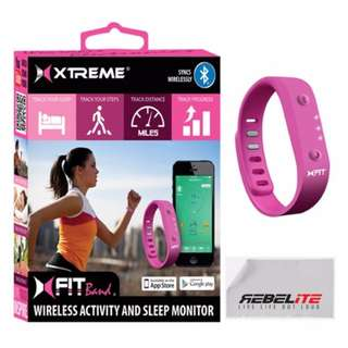 Xfit Wireless Bluetooth Activity Fitness Tracker + Sleep, Pink
