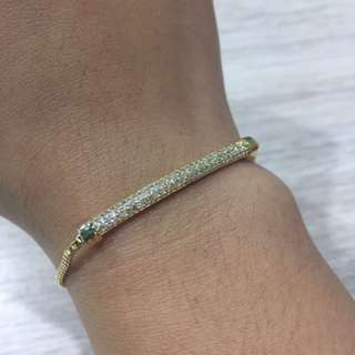 Thai plated gold bracelet with diamonds
