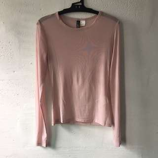 H&M Sheer Pink Top